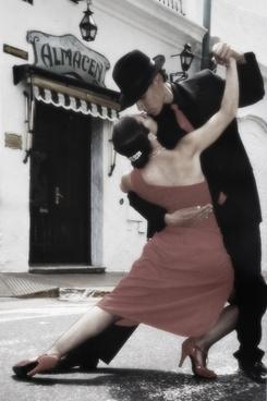 tango dancing couple