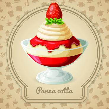 tasty dessert background design vector