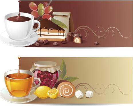 tasty jams design elements vector set