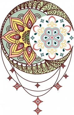 tattoo template multicolored classical symmetric decor
