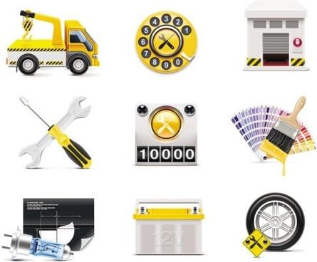 taxi accessories icon 01 vector