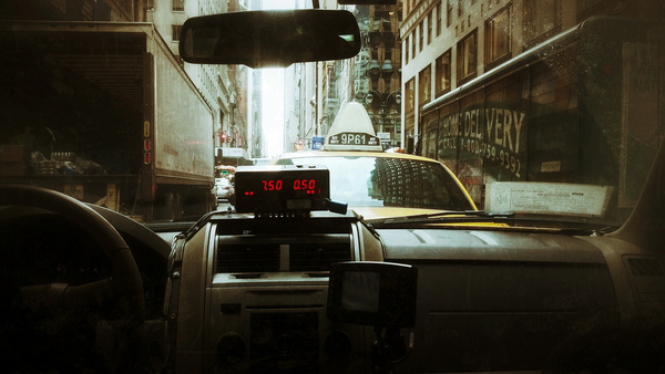 taxi cab front view