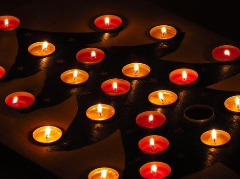 tea lights advent calendar christmas tree