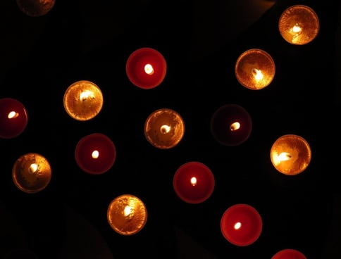 tea lights christmas time lights