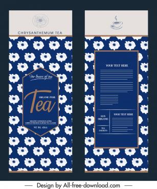 tea package template elegant classical petals decor