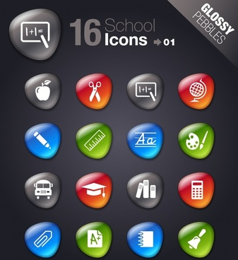 teaching smooth soft stone icon icons vector