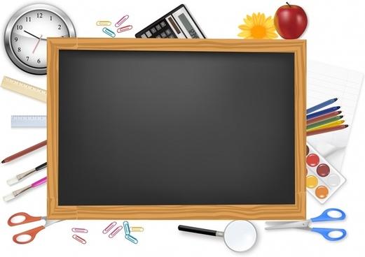 education background blackboard learning tools elements decor