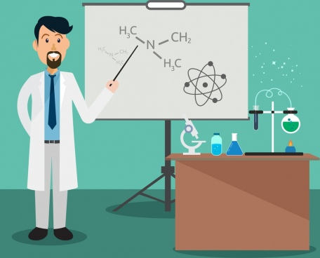 teaching theme teacher classroom chemistry tools icons