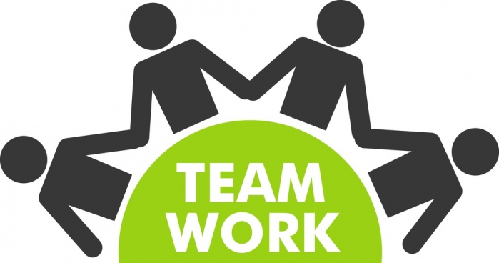 team work concept design human icons silhouette style