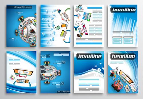 teamwork business cover brochure vector