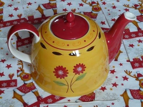 teapot floral design flowers