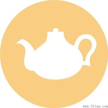teapot icons vector