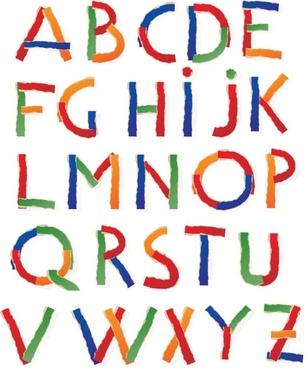 tear creative letters vector
