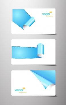 tear marks card paper roll angle vector