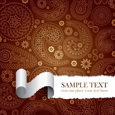 decorative background classical pattern decor 3d curled paper