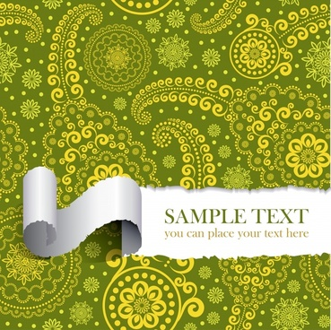 tear the paper pattern vector