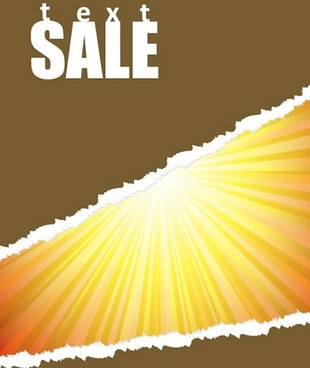 sale banner background sunshine ragged paper decor