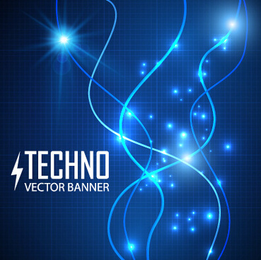 tech light effects vector design