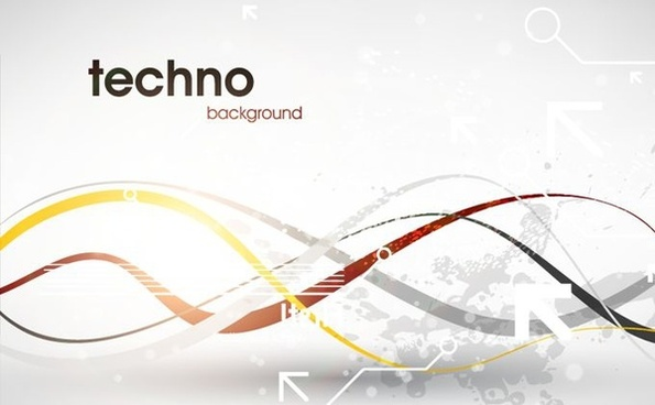 techno background modern design curved lines ornament