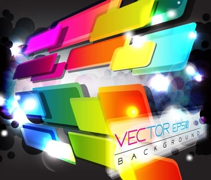technological sense abstract elements vector