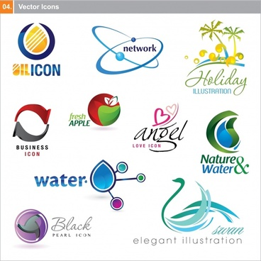 logo templates colorful modern shapes sketch