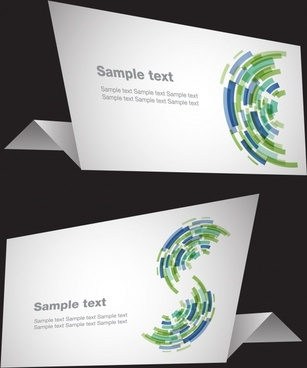 card templates abstract techno decor 3d sketch