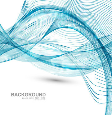technologie wire blue wave stylish vector background