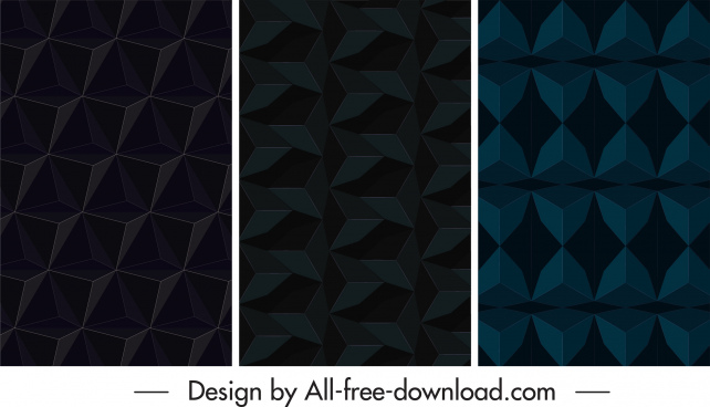 technology abstract background dark repeating 3d illusion shapes