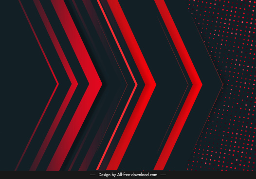 technology background arrows shapes dark red black