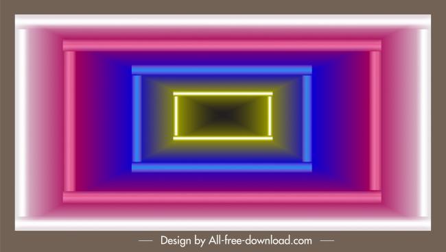technology background colorful shining lights geometric depth decor