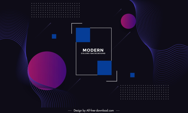 technology background dark design geometric shapes decor