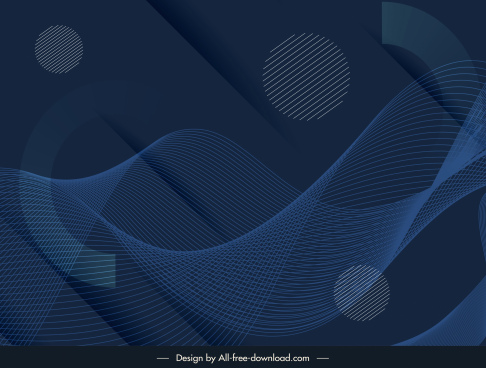 technology background dark modern dynamic 3d waving lines