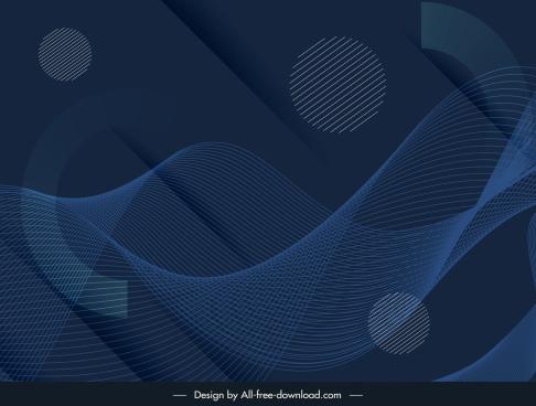technology background dark modern dynamic 3d waving lines