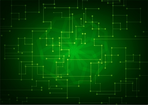 technology background green light effect abstract dots combination
