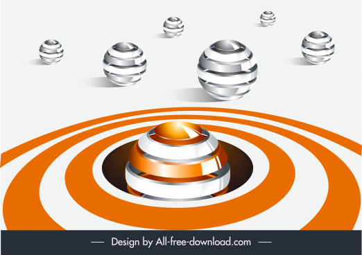 technology background modern 3d spheres decor