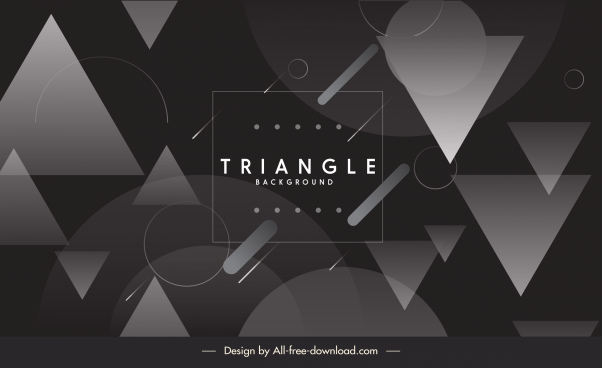 technology background modern black white triangle circles decor