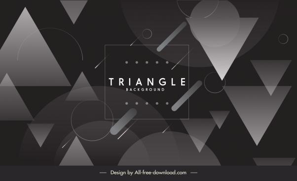 technology background modern black white triangle circles decor