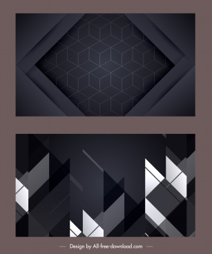technology background modern dark geometric abstract decor