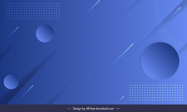 technology background template bright blue flat circles decor