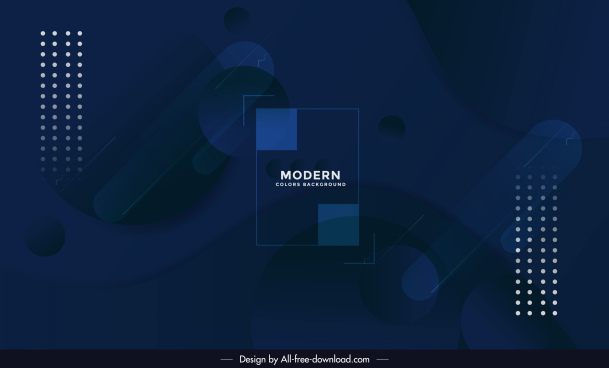 technology background template dark blue modern geometric decor