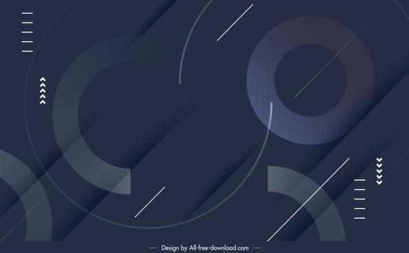 technology background template dark modern geometric decor