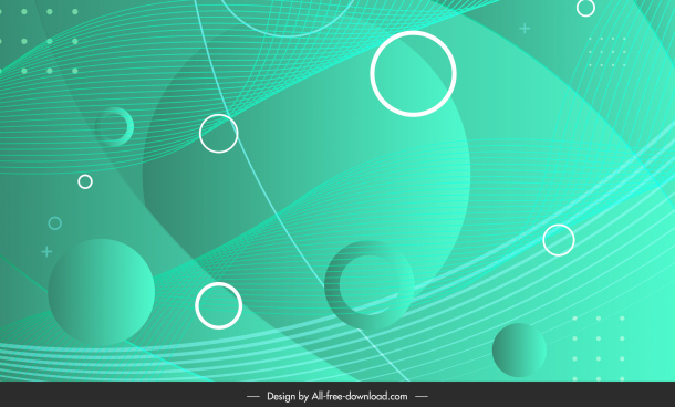technology background template dynamic geometric sketch green decor