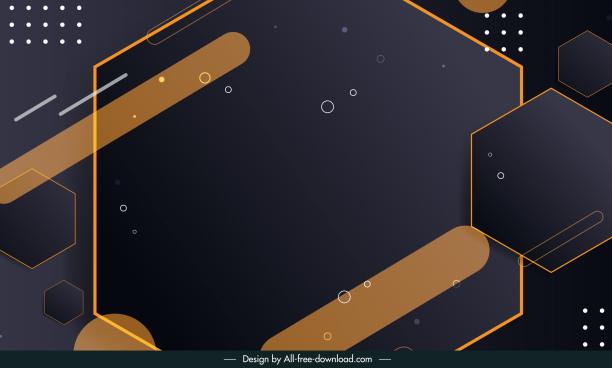 technology background template modern dark flat geometric decor