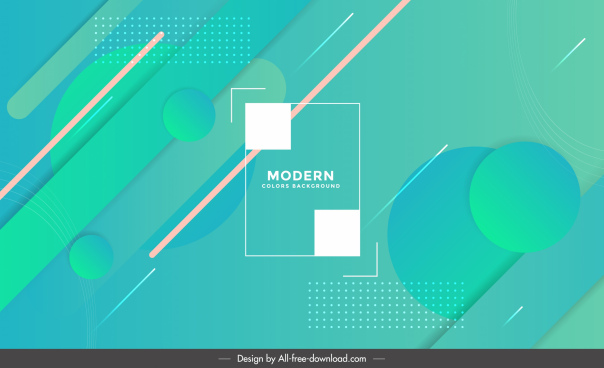 technology background template modern green elegant geometric decor