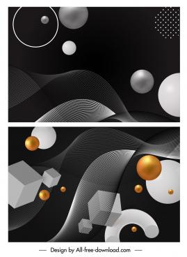 technology background templates modern dark dynamic 3d geometry