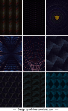 technology background templates modern dark illusive effect decor