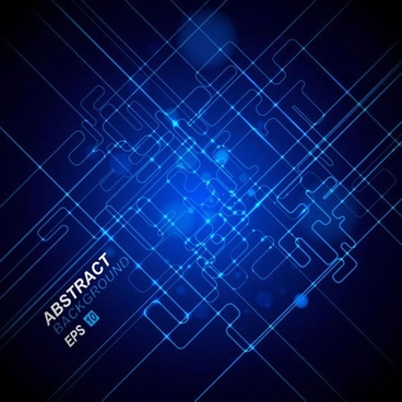 technology background template modern dark blue lines connection