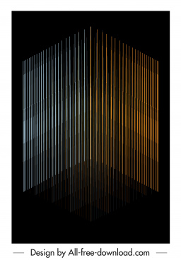 technology background vertical lines dark 3d design