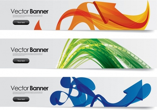 technology banners templates modern dynamic arrows shapes