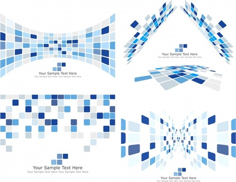 technology background templates modern 3d checkered decor